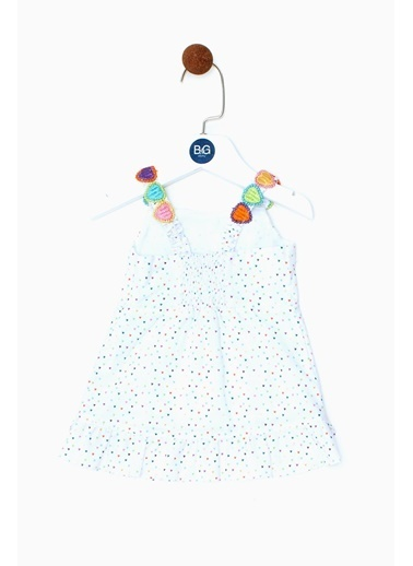 BG Baby Kız Bebek Desenli Elbise 19SS0BG2906 Renkli